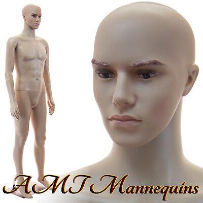Male Mannequin Manequin 6ft Tallmetal Stand Head Rotates Manikin Cm2