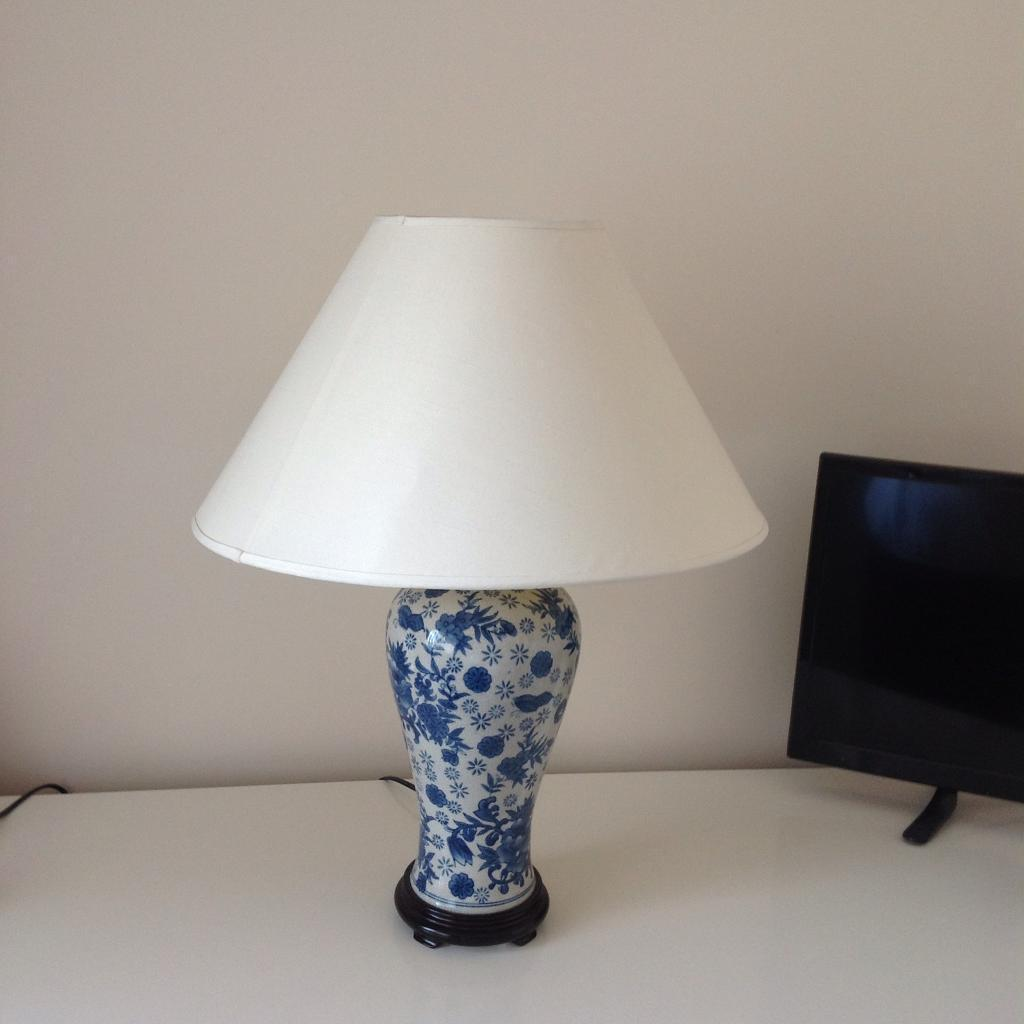 White and blue lamp