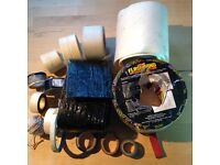 Tape selection including flexible flash band tape, tiling matting