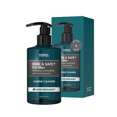 [KUNDAL] Pure & Safe For Men Homme Wash 258ml / 8.72 fl.oz Herb Bergamot Scent