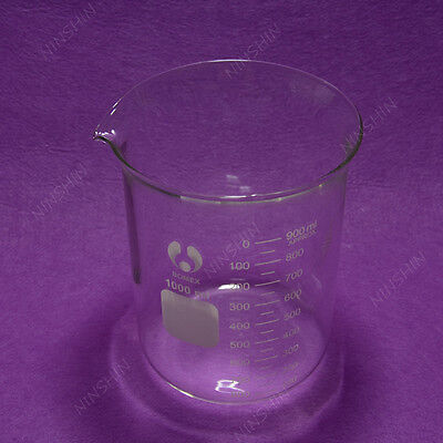 1000ml 1l Laboratory Glass Beakerwide Mouth Pyrex Material