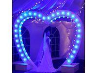 Wedding hire items. Love lights & sparkle, delivering a touch of glam to your special day!