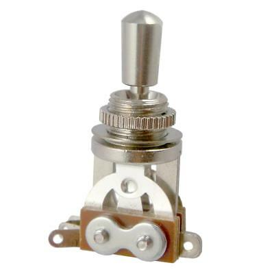 Silver Electric Guitar Pickup Selector 3 Way Toggle Switch w/ Tip Cap for LP