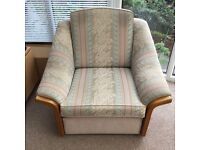 Settee and chair.