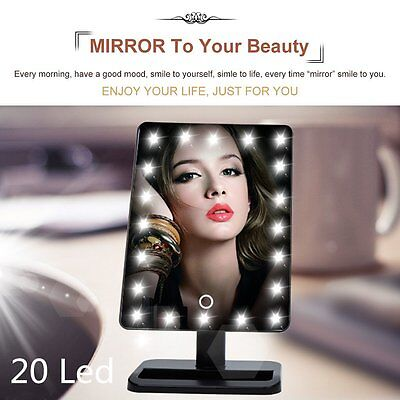 Cosmetic Make Up Vanity Illuminated Table Makeup Stand Mirror with 20 LED Light