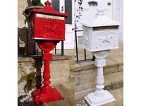 Cast aluminium postbox