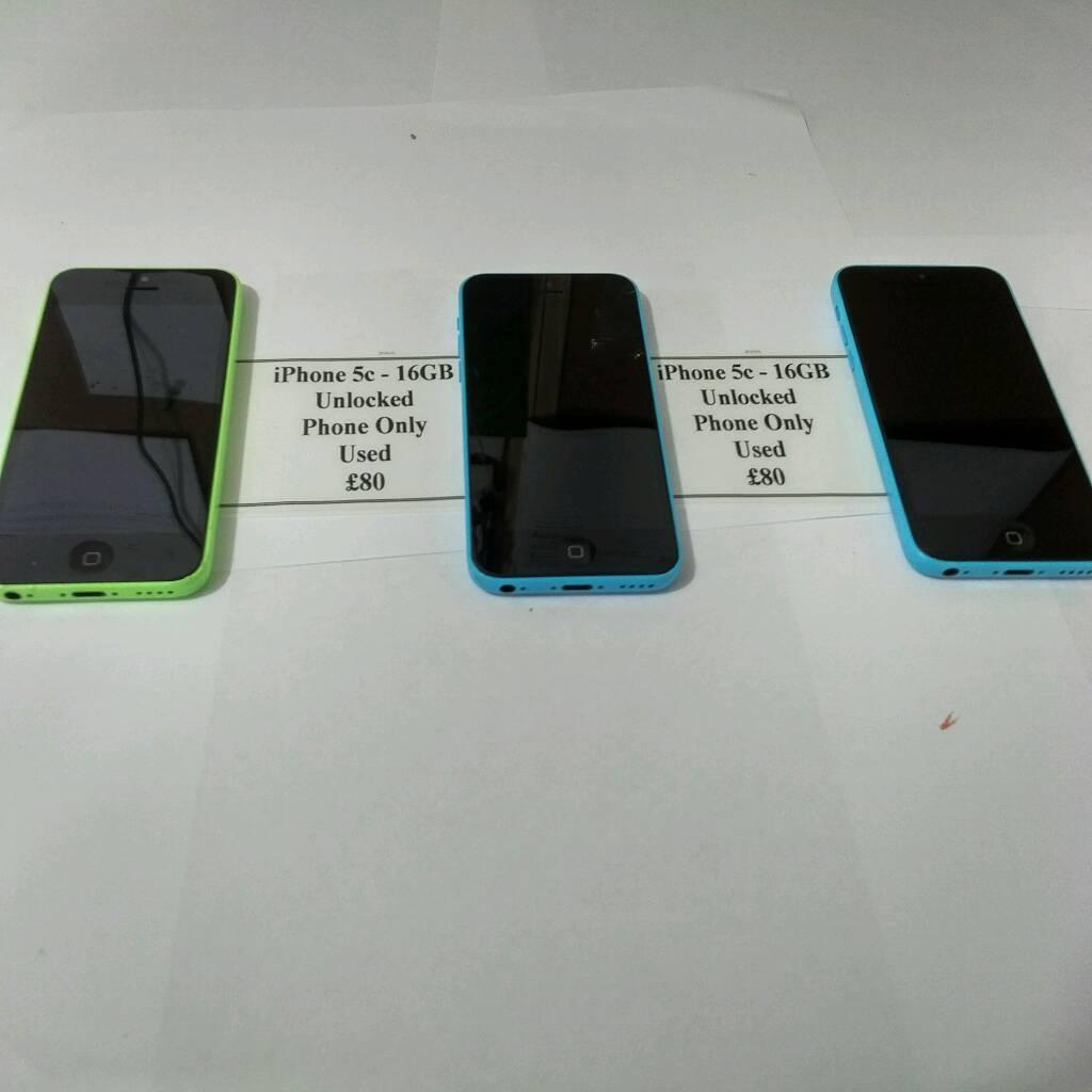 IPhone 5c choice of three 16GB unlocked