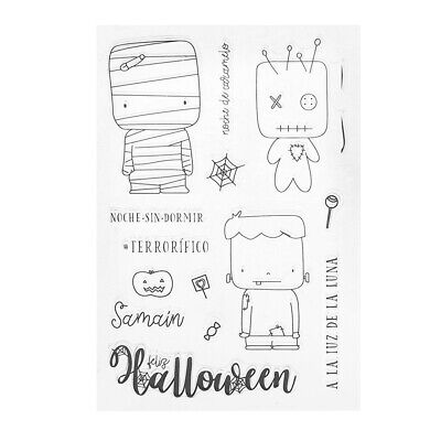 Halloween Silicone DIY Clear Stamps Scrapbooking for Photo Album Card Art Crafts