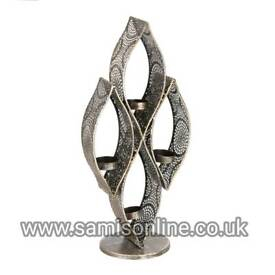 CONTEMPORARY ARABIAN INDIAN STUNNING LARGE TEARDROP CANDLE HOLDER ANTIQUE RARE