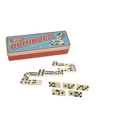 New Double Six Dominoes with Spinners in the Strong Tin Box Ivory Dominos