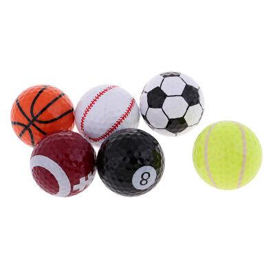 6pcs novelty sports golf balls training ball