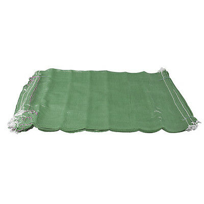 500 Green Net Sacks Mesh Bags Kindling Logs Potatoes Onions 50cm x 80cm / 30Kg