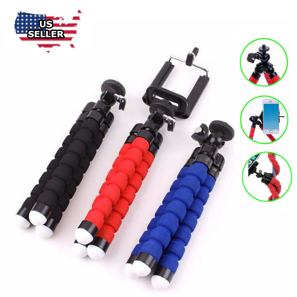 Universal Adjustable Octopus Tripod stand Phone Holder for iPhone Camera Cell Phone Accessories