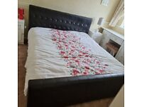 Super king size leather bed for sale