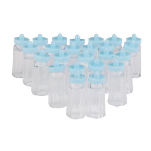 24xGastgeschenke BABY Taufe Geburt Tischdeko Bebek Favors Babyflasche -Blau