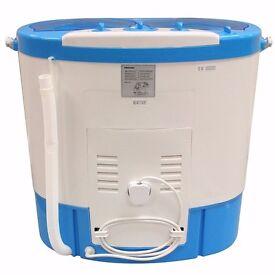 Twin Tub Portable Washing Machine Spin Dryer Camping Caravan Motorhome Student