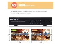 FLOUREON Professional Home Security, Surveillance&Alarm System CCTV Kit 4CH 960H HDMI DVR