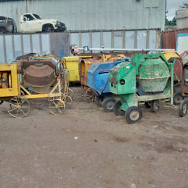 Lister Diesel Concrete mixers. Choice of 5.