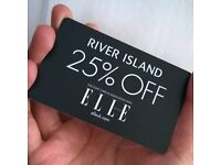 RIVER ISLAND GIFT CARD **MAKE ME OFFERS**