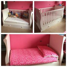 Sleigh cot by Mothercare