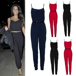 size8 14 women celebrity summer strappy evening cocktail pants playsuit jumpsuit ebay. Black Bedroom Furniture Sets. Home Design Ideas