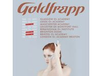 Goldfrapp tickets (x2) SOLD OUT - 9th November at Bristol O2 academy
