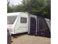 2 berth caravan with awning and motor mover