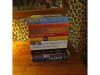 collection of jamie oliver cook books