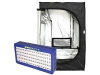 MEIZHI Reflector 450W LED Grow Light+ 31''x31''x63'' Grow Tent Plant Indoor Lamp