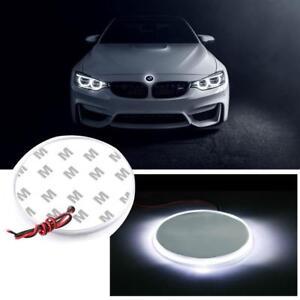 1x 82mm Emblem LED White Background Light For BMW 3 4 5 6 7 X M Z Series