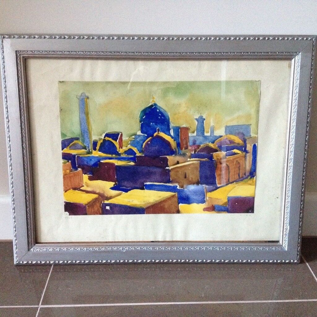 Watercolour Painting of Khiva (1965) in Antique Frame | in Poole ...