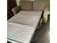 Beige double sofa bed