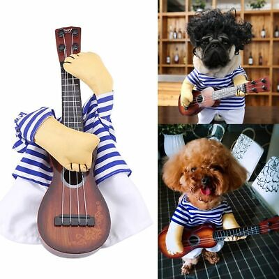 Halloween Costume Dog (Small Large Pet Dog Halloween Costumes Guitar Player Coat Clothes Party)
