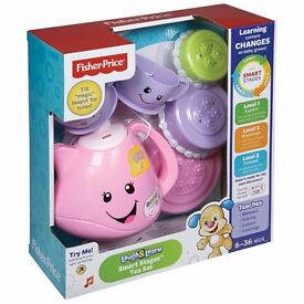 Brand New Fisher Price Laugh & Learn Smart Stages Tea Set RRP £20
