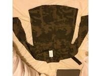 Brand new bershka camo shirt with side zippers