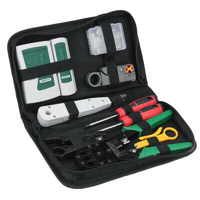 Network Ethernet Lan Kit Rj451211 Cat.6 Cable Tester Crimper Crimping Tool