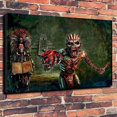 "Iron Maiden Eddie Book Of Souls Printed Canvas A1.30""x20"" 30mm Frame Metal Rock"