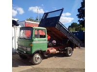 Left hand drive Mercedes Benz 608D 8 Ton Meiller tipper. Low miles. On springs suspension.