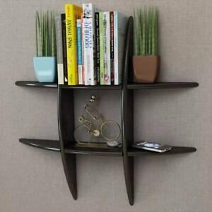 Black MDF Floating Wall Display Shelf (SKU:242179)