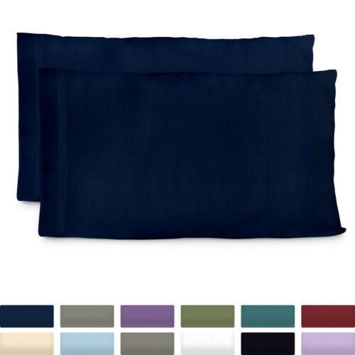 Premium Bamboo Pillow Cases Ultra Soft & Cool Hypoallergenic Pillowcase Set of 2