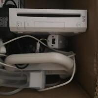 Wii game console with remotes