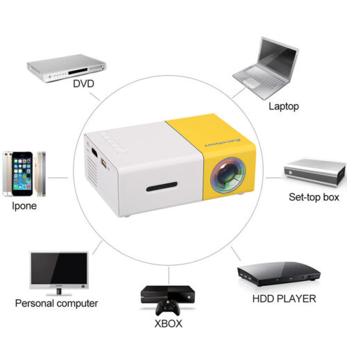 Mini Projector YG300 HD 1080p AV, USB, SD Card, HDMI LED Home Theatre Cinema US
