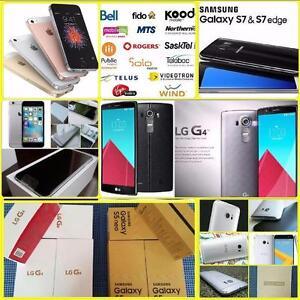 Brand New Unlocked (Samsung S7/HTC 10/Sony Z5 Prem/LG-G4/G3) Apple iPhones 5S/SE/6S/6S+ WIND/Roger/Bell/Telus/Fido/Koodo