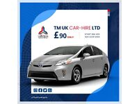 TOYOTA PRIUS HYBRID PCO CAR HIRE **FROM ONLY £90 P/W** UBER READY FOR RENT