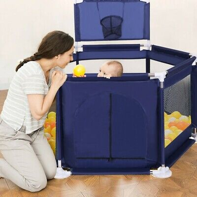 "59""x26"" Baby Playpen Kids Safety Home Pen Fence Play Center Yard Indoor Outdoor"
