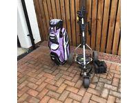 Powerbug digital golf trolley and bag.