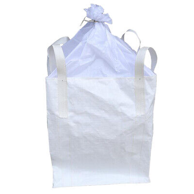 1 Ton FIBC Bulk Bag Builders Bag Waste Rubble Storage Sack with 4 Loops, PP