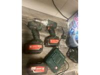 Metabolic impacted and driver for sale 150 good condition two 5.2 amp battery's and one 4