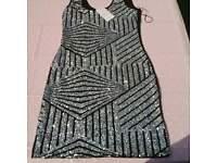 brand new Glitter sparkly dress size 14 stretch
