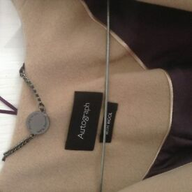 Ladies new burgundy/camel edge to edge jacket from M&S Autograph.NWT. Size 12